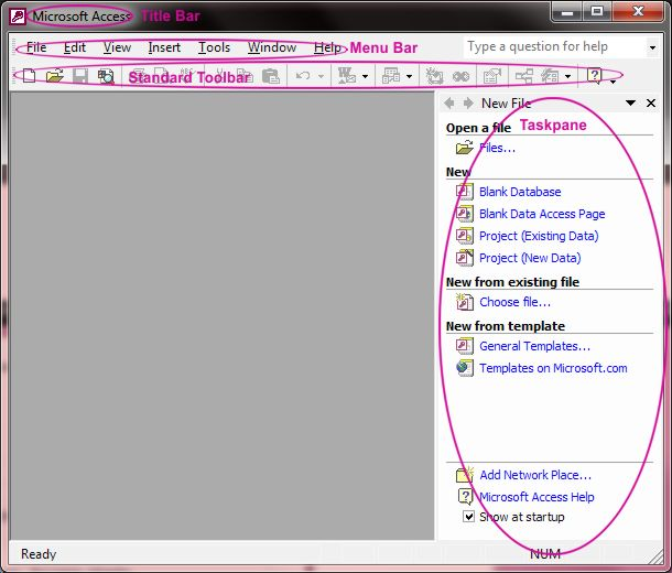 MS Access Screen layout