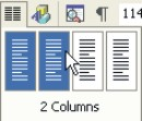 Microsoft Word Help: insert with the columns button