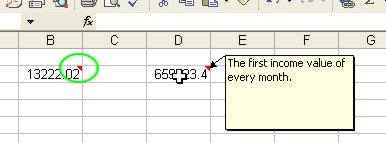 How to use Microsoft Excel: Cell Comment example