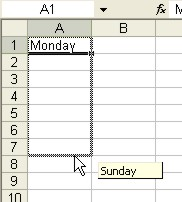 Excel for Dummies: AutoFill - Dragging the Fill handle