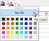 To change the color palette of excel cells using the Fill Color button ...
