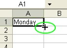 Excel for Dummies: AutoFill - Fill Handle' Mouse Pointer
