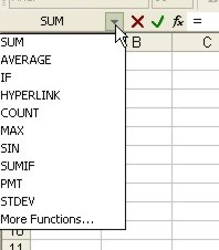 Learning Excel: Function list example