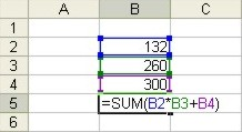How to use Microsoft Excel: Simple Formula example