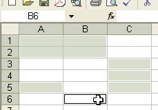 Excel Tips: Non-neighboring selected cells example