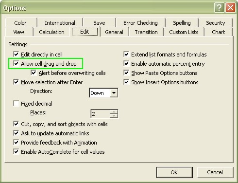 Excel for Dummies: Turn AutoFill on