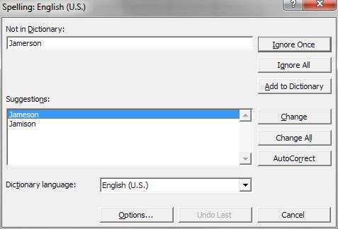 How to use Microsoft Excel Spelling dialog box