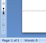 Microsoft Word 2007: Bottom Margin on ruler