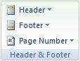 Microsoft Word 2007: Design tab - Header &  Footer