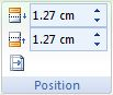 Microsoft Word 2007: Design Tab - Position buttons