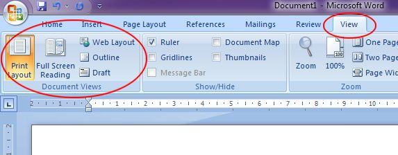 Microsoft Word 2007: Document Views