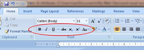 Word 2007 Tutotial: Effects buttons