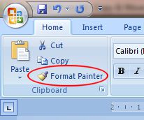 Word 2007 Tutorial: Format Painter button