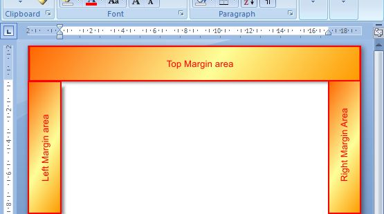 Microsoft Word 2007: Margins example