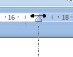 Microsoft Word 2007: Right margin on ruler