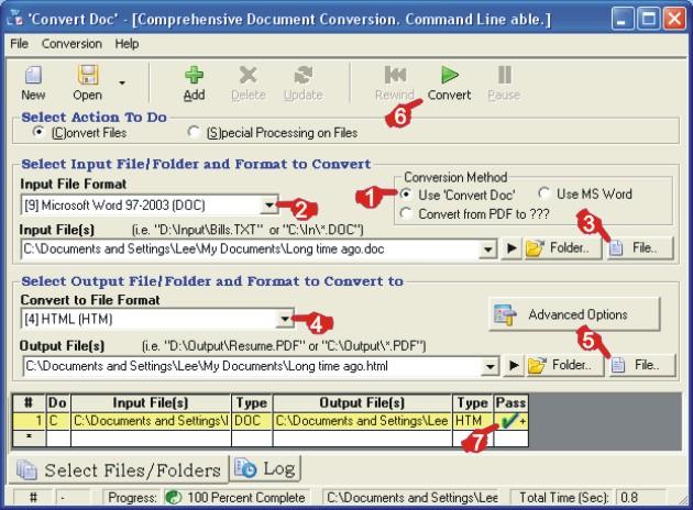 Convert Word to HTML: screenshot1