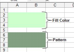 Color palette for Excel for cells example 1