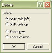 Excel Worksheets: Delete dialog box