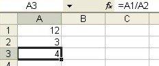 Excel Formulas: formula bar example 1