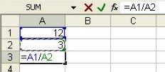 Excel Formulas example 1
