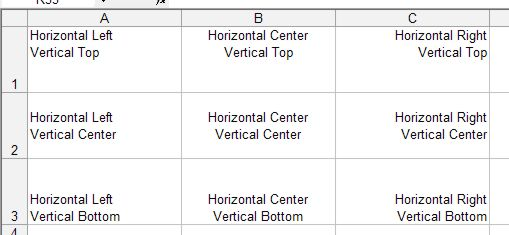 Microsoft Office Excel: Horizontal & Vertical Alignment example